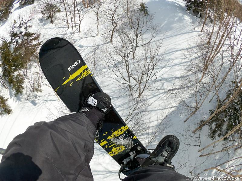 横手山スノーボーディング