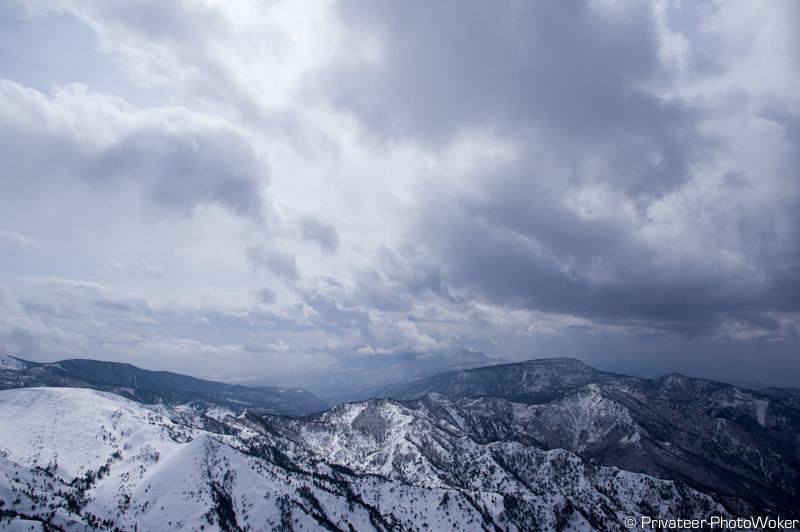 横手山山頂パノラマ