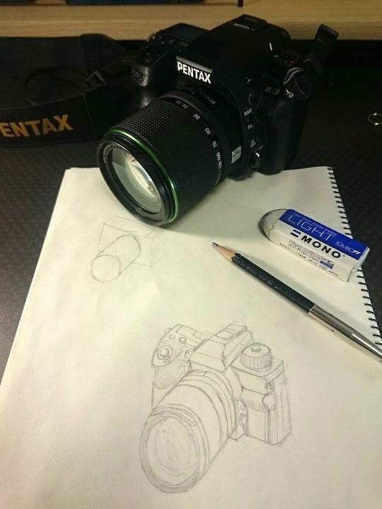 箱+円柱=カメラ