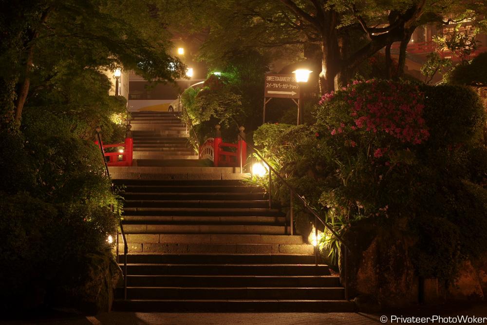 富士屋ホテル入り口(夜)