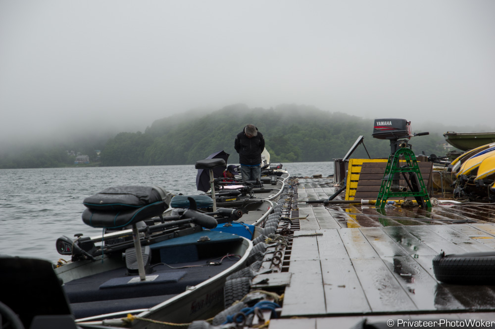 桧原湖船着き場