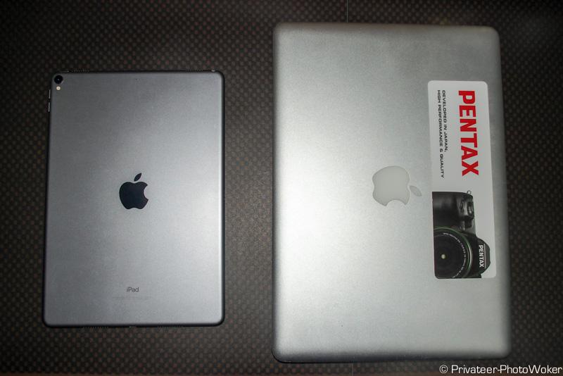 mac book Pro(ノートPC)とのサイズ比較