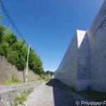 碁石海岸への道