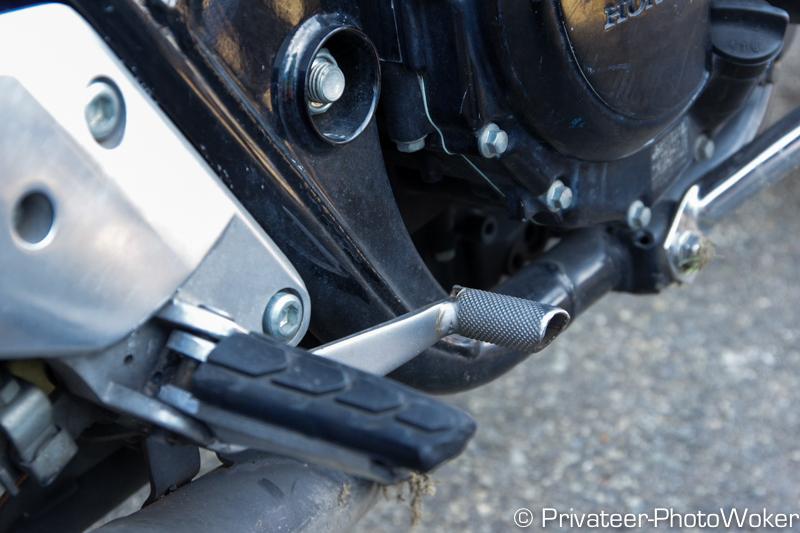 教習所のMTバイク ギアペダル