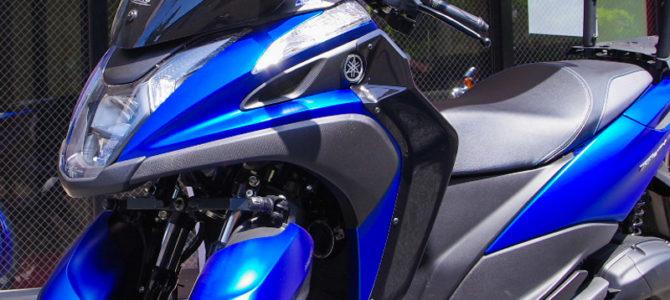 【超高性能全天候型三輪車!?】ブルーのトリシティ155を見に行ったYSP横浜戸塚でヤネシティを撮ってきた!
