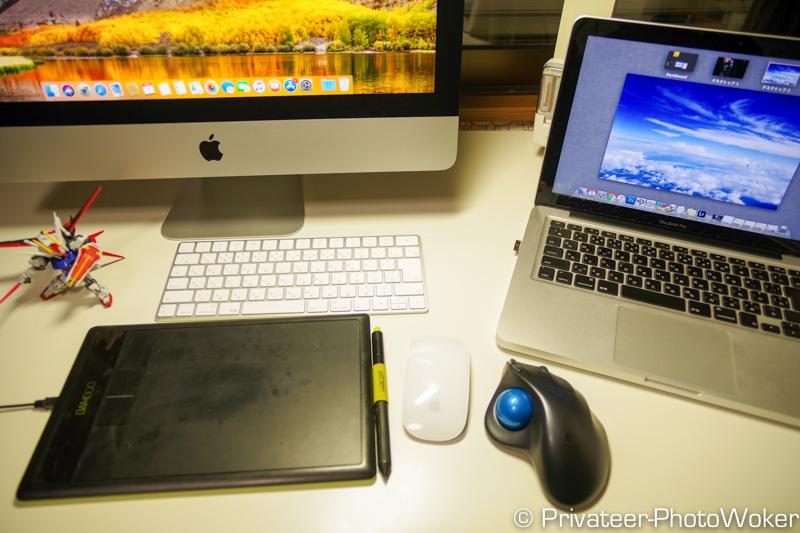 21.5インチiMacと13インチMacBookPro