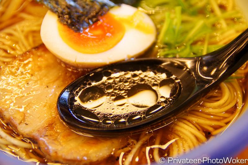 大山 柚子醤油ラーメン スープ