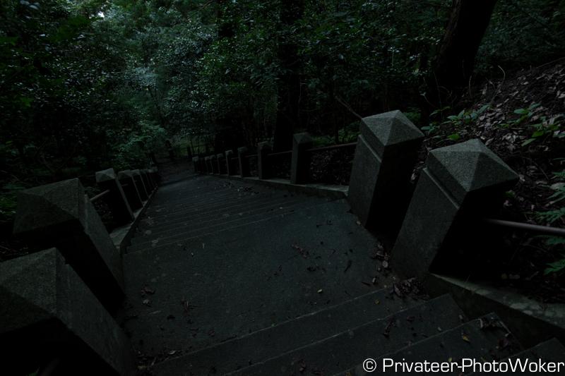 天神山公園階段下り
