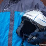 梅雨の自転車通勤用に買ったロゴスリプナーの高機能レインウェアで大失敗… 最強の防水防風性でバイク用レインスーツへ!
