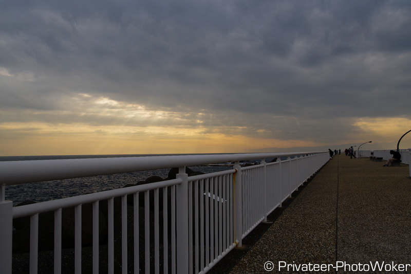 江ノ島 防波堤