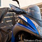 トリシティ155 バイクカバー トップケース装備