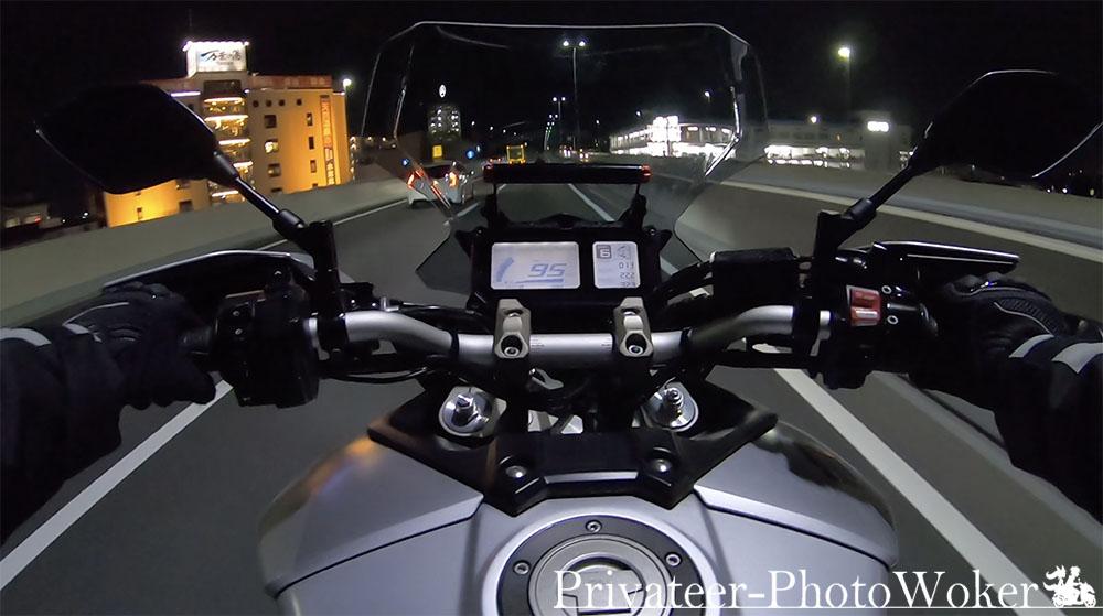 MT-09 TRACER KAPPAスクリーン 高速走行