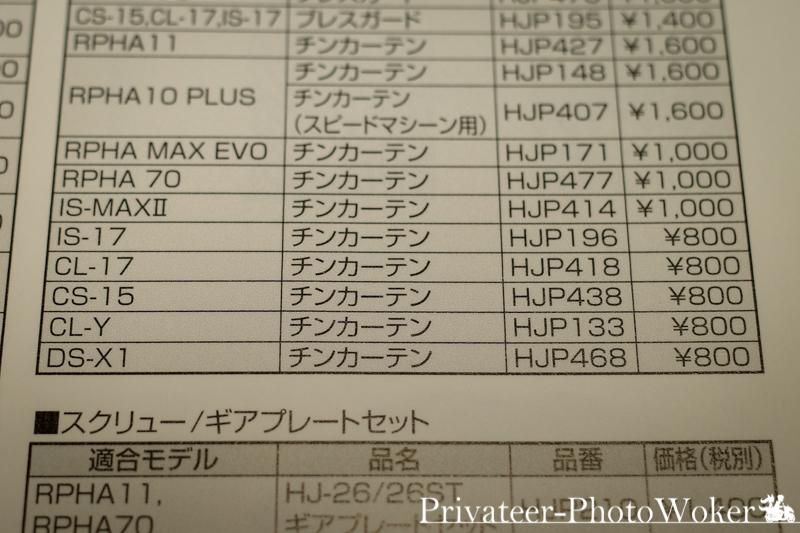 HJC DS-X1 パーツカタログ