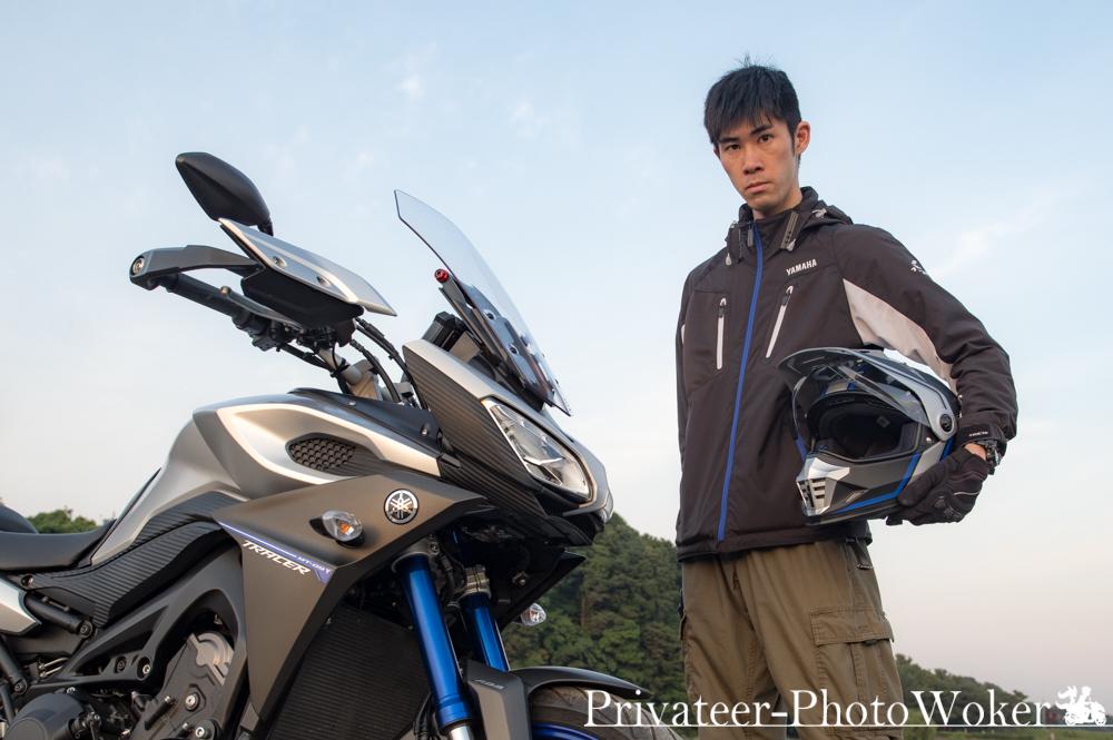 自撮り with MT-09 TRACER
