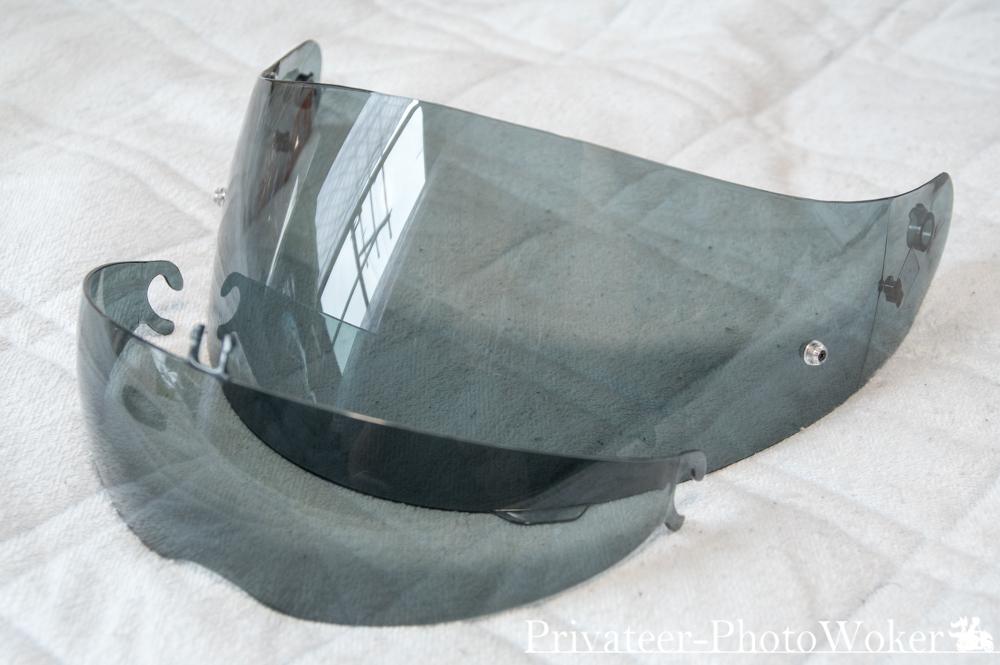 YJ-19 スモークシールド サンバイザー比較
