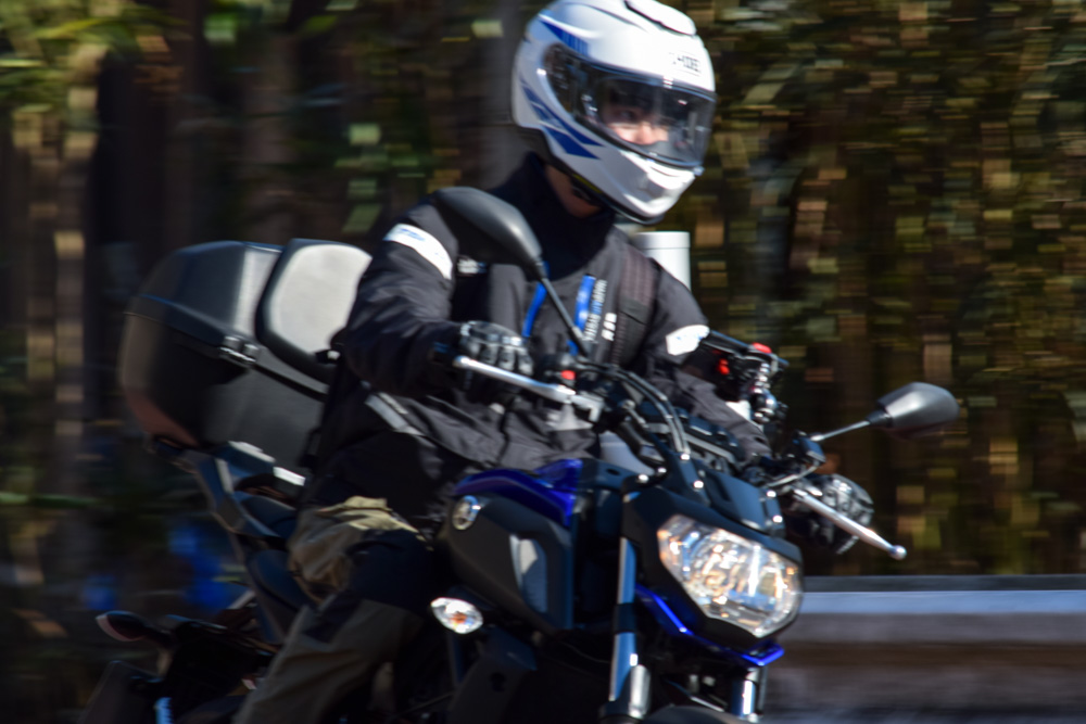 シンさん撮影MT-07 奥多摩ツーリング