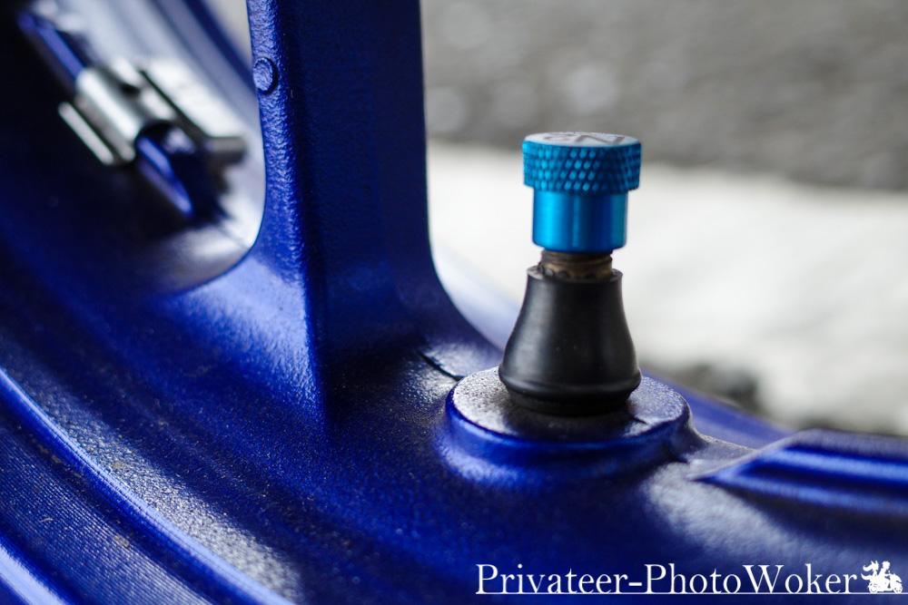 エアバルブ MT-09TRACER タイヤ交換