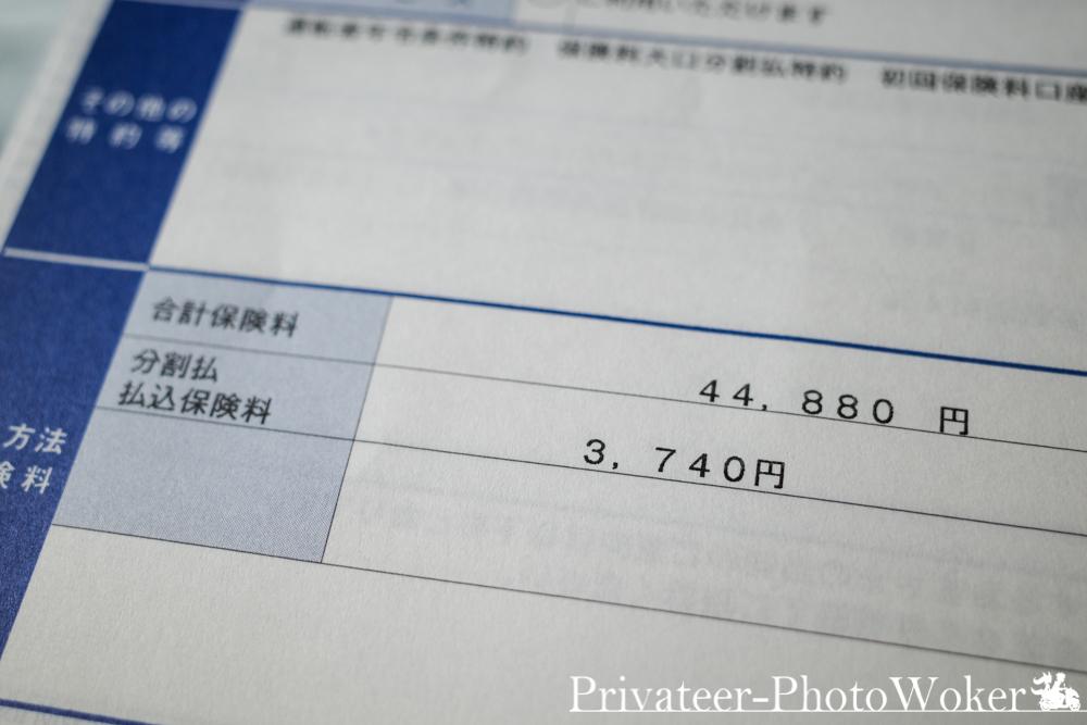 MT-09TRACER(2年目、8等級)保険料